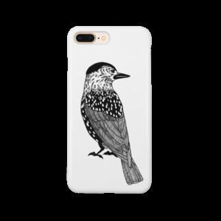 まつのき商店のホシガラス Smartphone cases