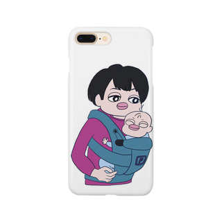 and mick designのプイちゃんとピー助 Smartphone cases