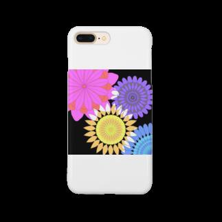 飛べる黒猫のFlower flower Smartphone cases