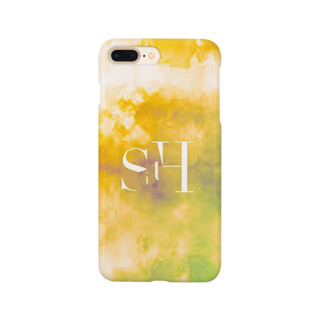 dog/WORKS.のyellow suisai Smartphone cases