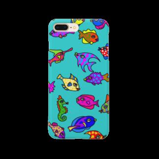 minのおさかなちゃんスマホケース Smartphone cases