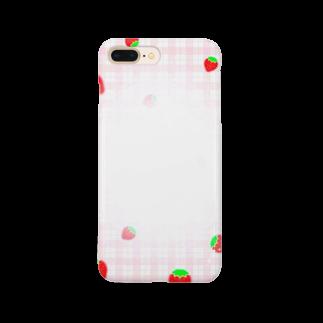 mero46のいちご Smartphone cases