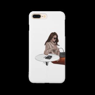 rilly_artstyleのカフェる Smartphone cases