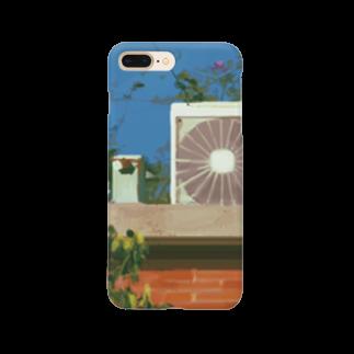 高架舎の室外機 Smartphone cases