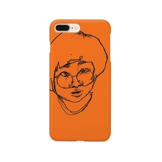リアルタッチ顔面こちま Smartphone cases