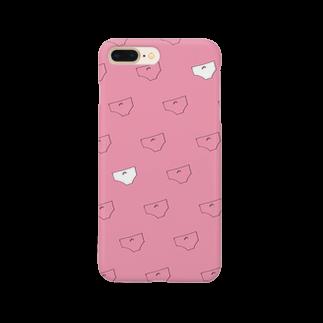 かがなつのぱんてー ピンク Smartphone cases