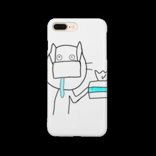 shima_nagashiの目が死んでるねこ 花粉症がつらい Smartphone cases