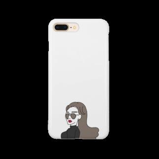 サオリリリのツーブリッジサングラスの女性 Smartphone cases