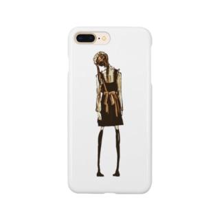 後ろ姿のメイド Smartphone cases