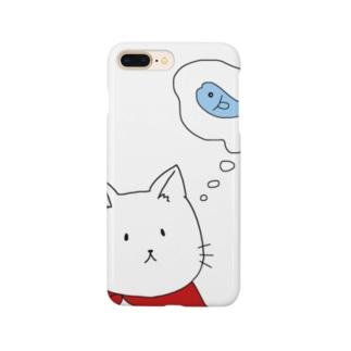 猫さんは魚が食べたい Smartphone cases
