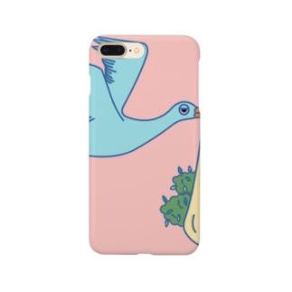 コウノトリ Smartphone cases