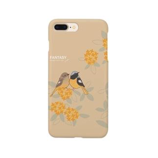 金木犀とジョウビタキ Smartphone cases
