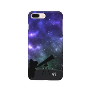 天体観測の夜 Smartphone cases
