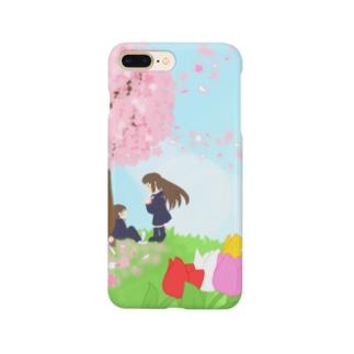 想い桜の下で Smartphone cases