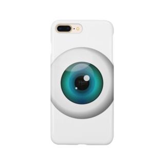 PB-EYEBALL ブルー Smartphone cases