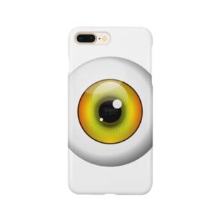 PB-EYEBALL イエロー Smartphone cases