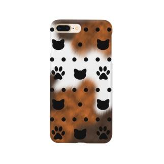 三毛猫カラー 水玉キャット Smartphone Case