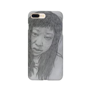 天神髪ボサ Smartphone cases
