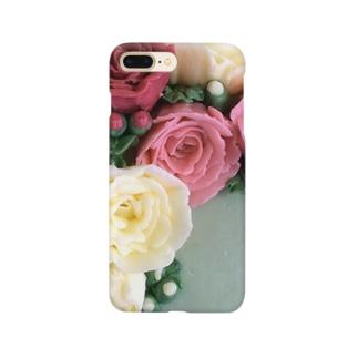 パイピングのお花 Smartphone cases