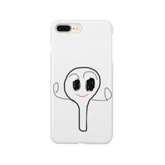 メッチャ=ヨソウ=シャモジくん Smartphone cases