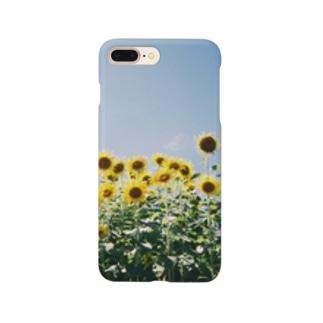 夏のおわりのひまわりさん🌻 Smartphone cases