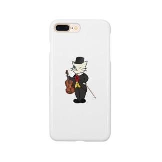 バイオリン奏者のネコ Smartphone cases