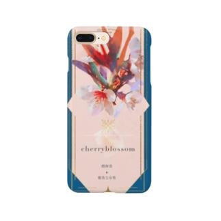 フラワーオラクルカード 桜 Smartphone cases