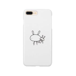 うさぎとうさぎパペット Smartphone cases
