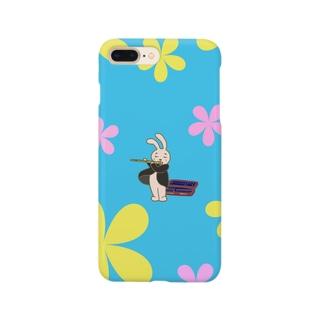 フルートうさぎ Smartphone cases