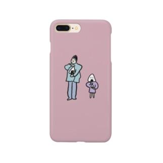 おにぎり製造者とおにぎり(カラー) Smartphone cases