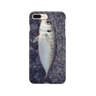 釣りたてアジ スマホケース Smartphone cases