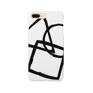 シンプル(黒) Smartphone cases