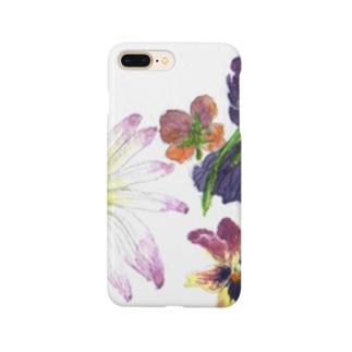 マーガレット、パンジー、ヴィオラ Smartphone cases