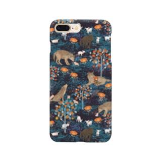 やさしいおおかみ(ブラック) Smartphone cases
