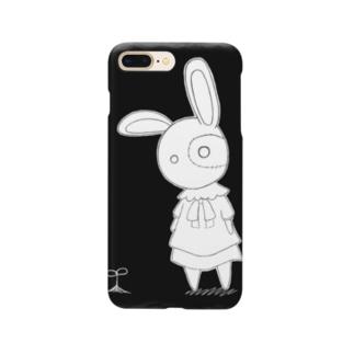 ツギハギのうさぎ「シュトレティア」モノクロ 四角 Smartphone cases