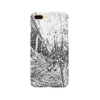 曼珠沙華(モノクロ) Smartphone cases
