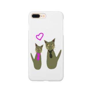 カップル金猫 Smartphone cases