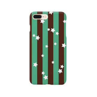 ★チョコミントストライプ★ Smartphone cases