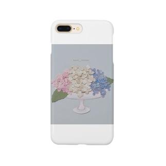 器と紫陽花。 Smartphone cases