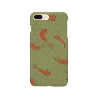 和風金魚スマートフォンケース Smartphone cases