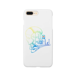 genesis_itemのHello World Smartphone cases