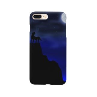 暗闇の狼 Smartphone cases