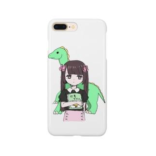 恐竜×量産ちゃん Smartphone cases