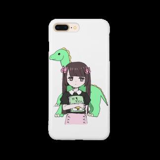 roriusagimero_の恐竜×量産ちゃん Smartphone cases