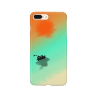 海の景色 Smartphone cases