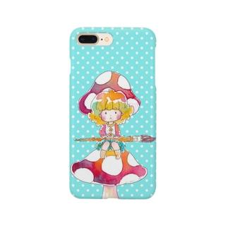 色の妖精プティ スマホケースブルー Smartphone cases