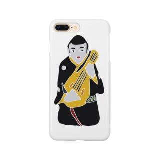帖佐人形 琵琶法師 Smartphone cases