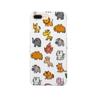 動物モノグラム Smartphone cases