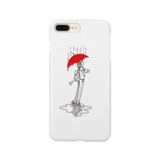 こんイラスト 雨降りのこん Smartphone cases