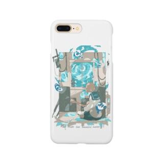 「月が綺麗でした。」藍色空ver. Smartphone cases